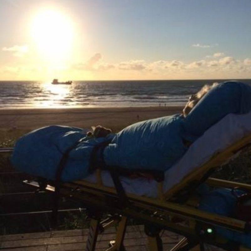 Él quería ir por última vez a la playa. Foto:Vía Facebook.com/wensenrijders