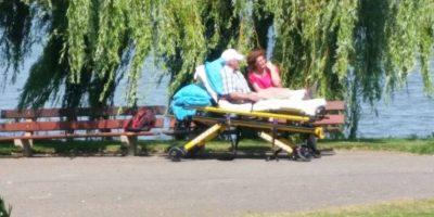 Simplemente salir del hospital. Foto:Vía Facebook.com/wensenrijders