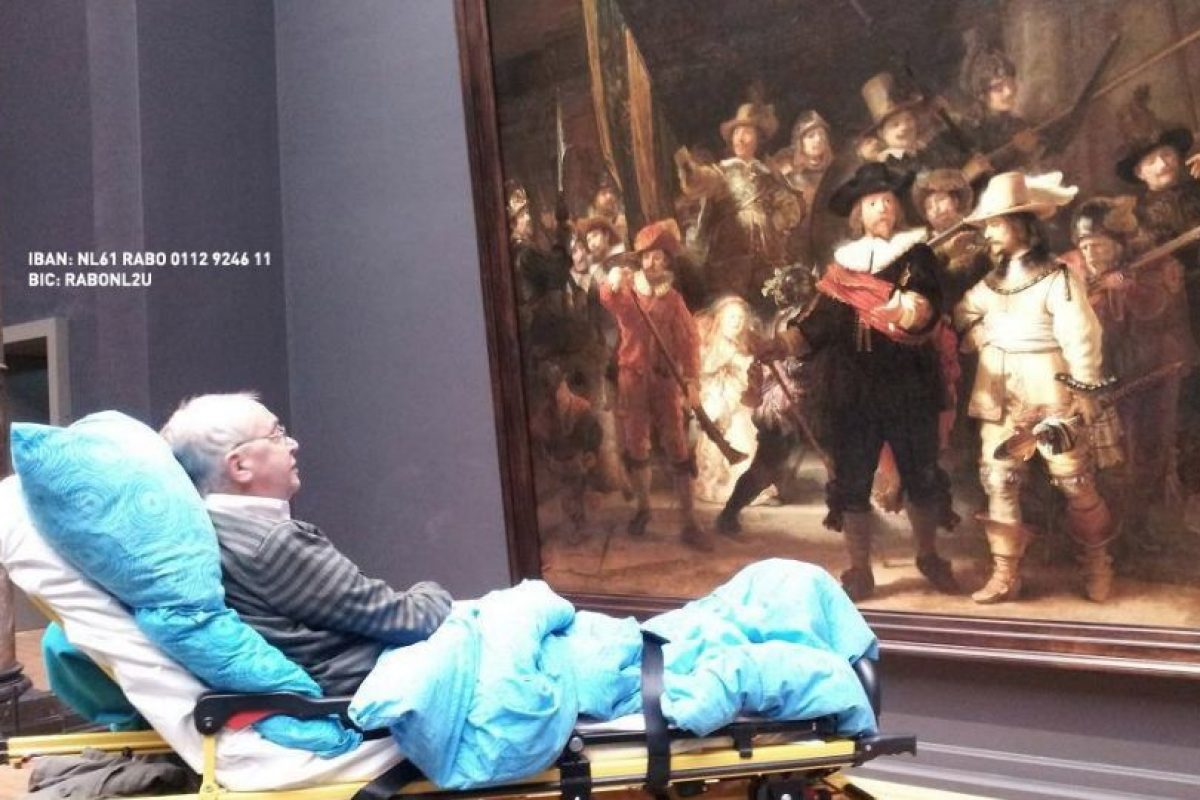 Quería ver en vivo su pintura favorita de Rembrandt. Foto:Vía Facebook.com/wensenrijders