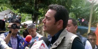 Candidato a la presidencia Jimmy Morales criticado al llegar a El Cambray