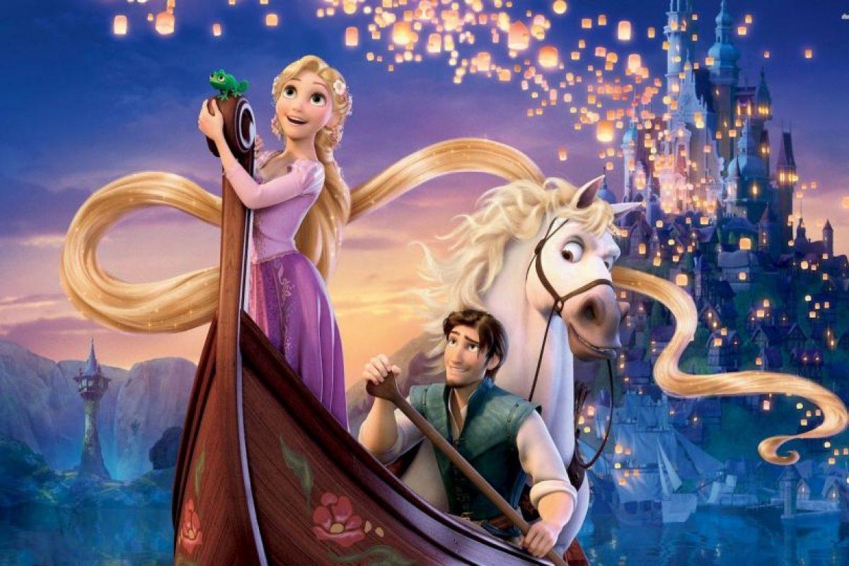 En 'Tangled' Rapunzel tiene una gran historia. Foto:Disney