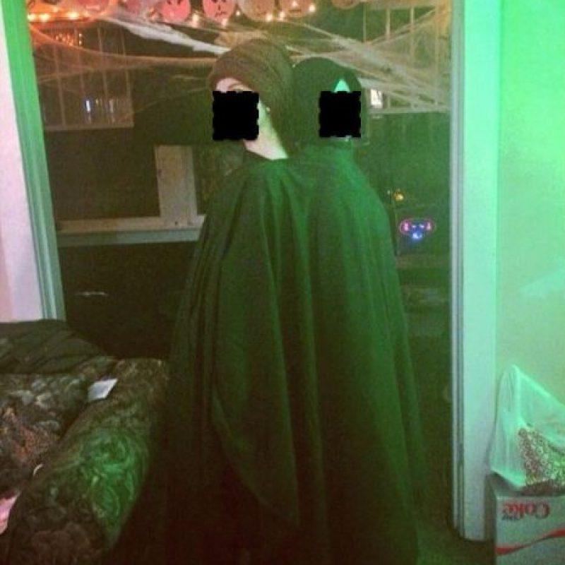 Voldemort y Quirrell. Mejor salen normales a la calle. Foto:vía Tumblr