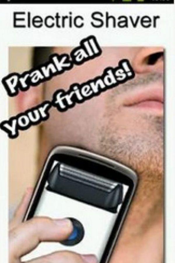 App para simular que su celular es una rasuradora eléctrica ¿alguien reirá con eso? Foto:Mindgrip, Inc.