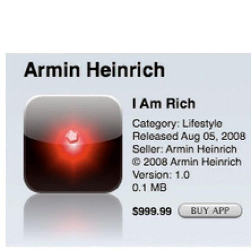 Es un programa que realmente no ofreció nada, solo fue lanzada para mostrar que cualquier cosa podría ser vendida en la tienda de apps. fue eliminada poco tiempo después de estrenarse Foto:Armin Heinrich