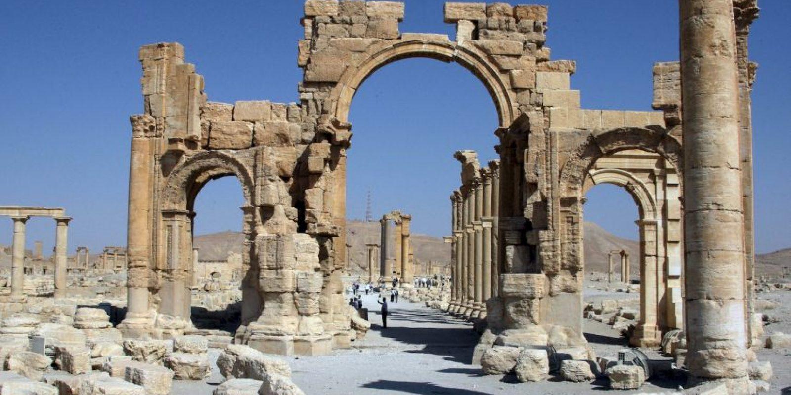 """Esta ocasión se trato del """"Arco de Triunfo"""" de Palmira. Foto:AFP"""