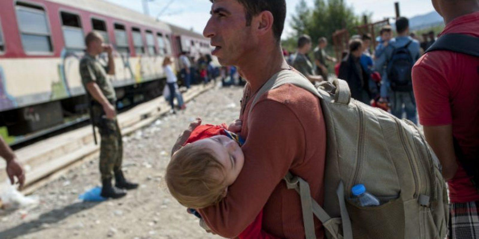 Que junto a su familia quería llegar a Grecia. Foto:AFP