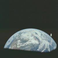 Y así se ve la Tierra desde la Luna Foto:Flickr.com/projectapolloarchive