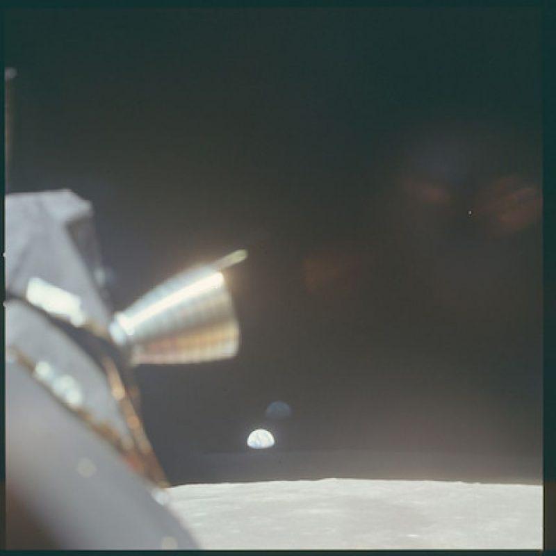 La Tierra vista desde la nave, sin descender Foto:Flickr.com/projectapolloarchive