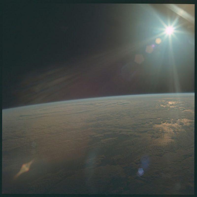 La vista de los astronautas al momento de dejar la Tierra Foto:Flickr.com/projectapolloarchive