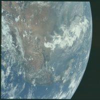 Así se veían Estados Unidos y México Foto:Flickr.com/projectapolloarchive