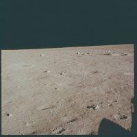 Al momento de llegar a la superficie lunar, todavía sin descender de la nave Foto:Flickr.com/projectapolloarchive
