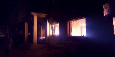 Gran parte del hospital fue destruido. Foto:AP