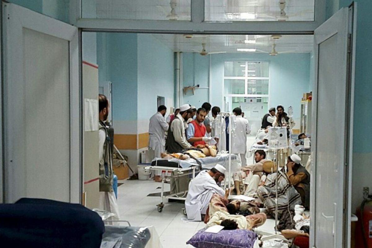 Un total de 100 pacientes se encontraban en el hospital al momento del ataque. Foto:AFP