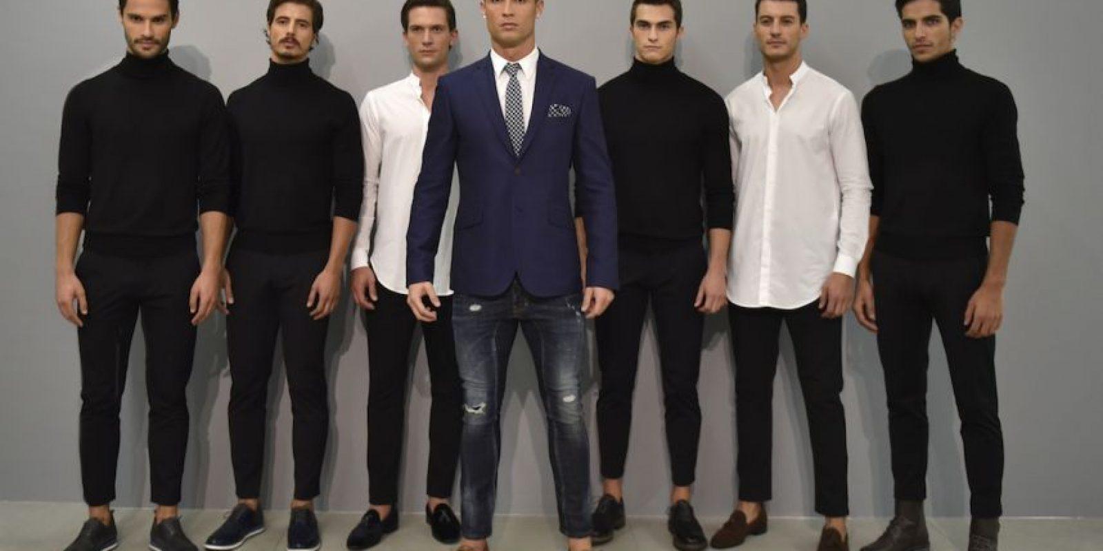 """Cristiano Ronaldo presentó una nueva colección de su línea de zapatos """"CR7 Footwear"""". Foto:Getty Images"""
