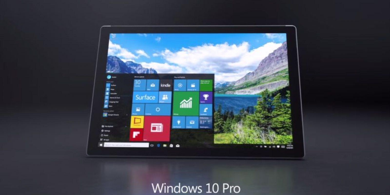 La pantalla, tiene un tamaño de 12,3 pulgadas y una resolución de 2736×1824 (267 ppp), la relación de aspecto es 3:2 Foto:Microsoft