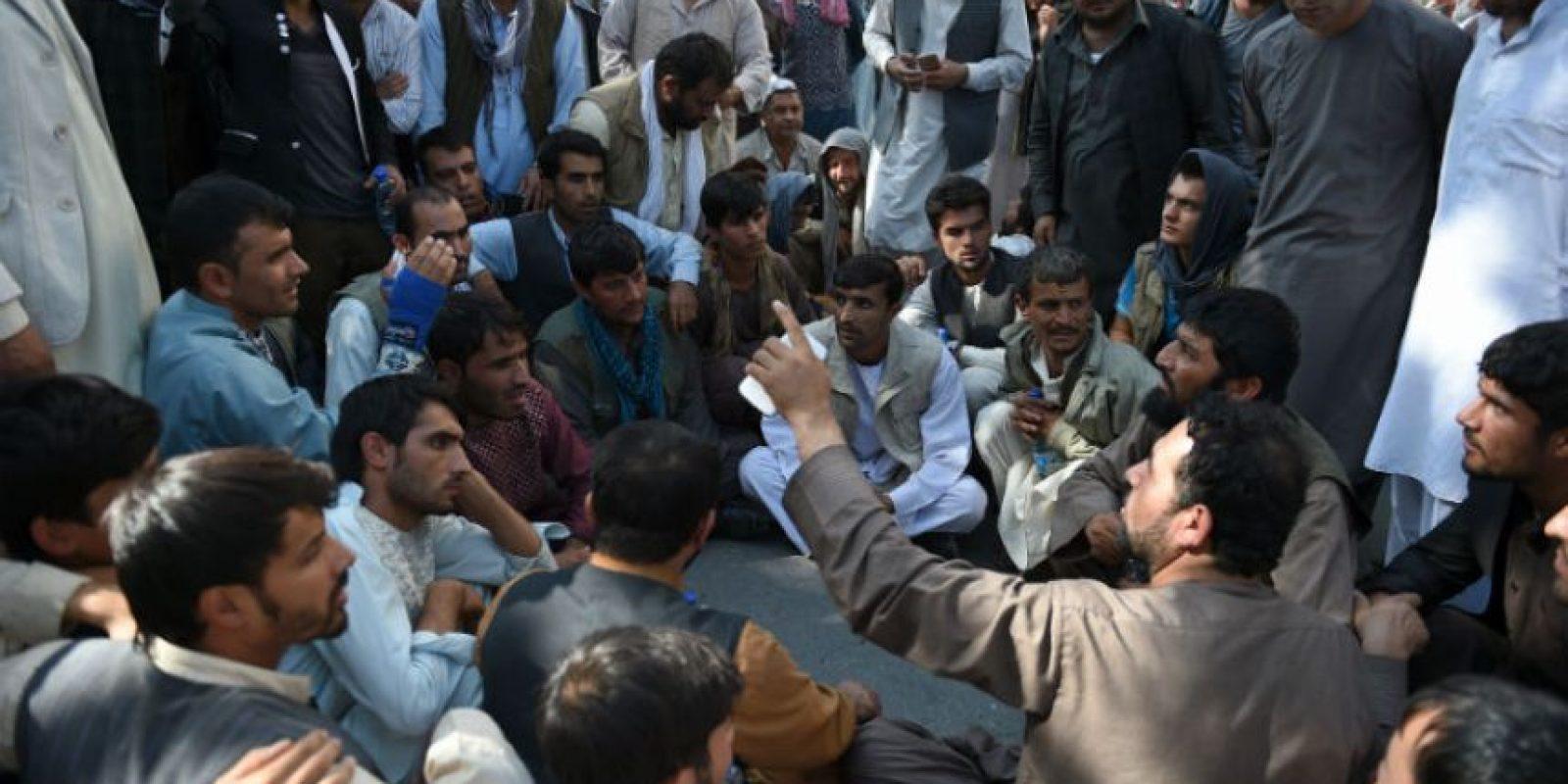 Afganos también han manifestado su descontento. Foto:AFP