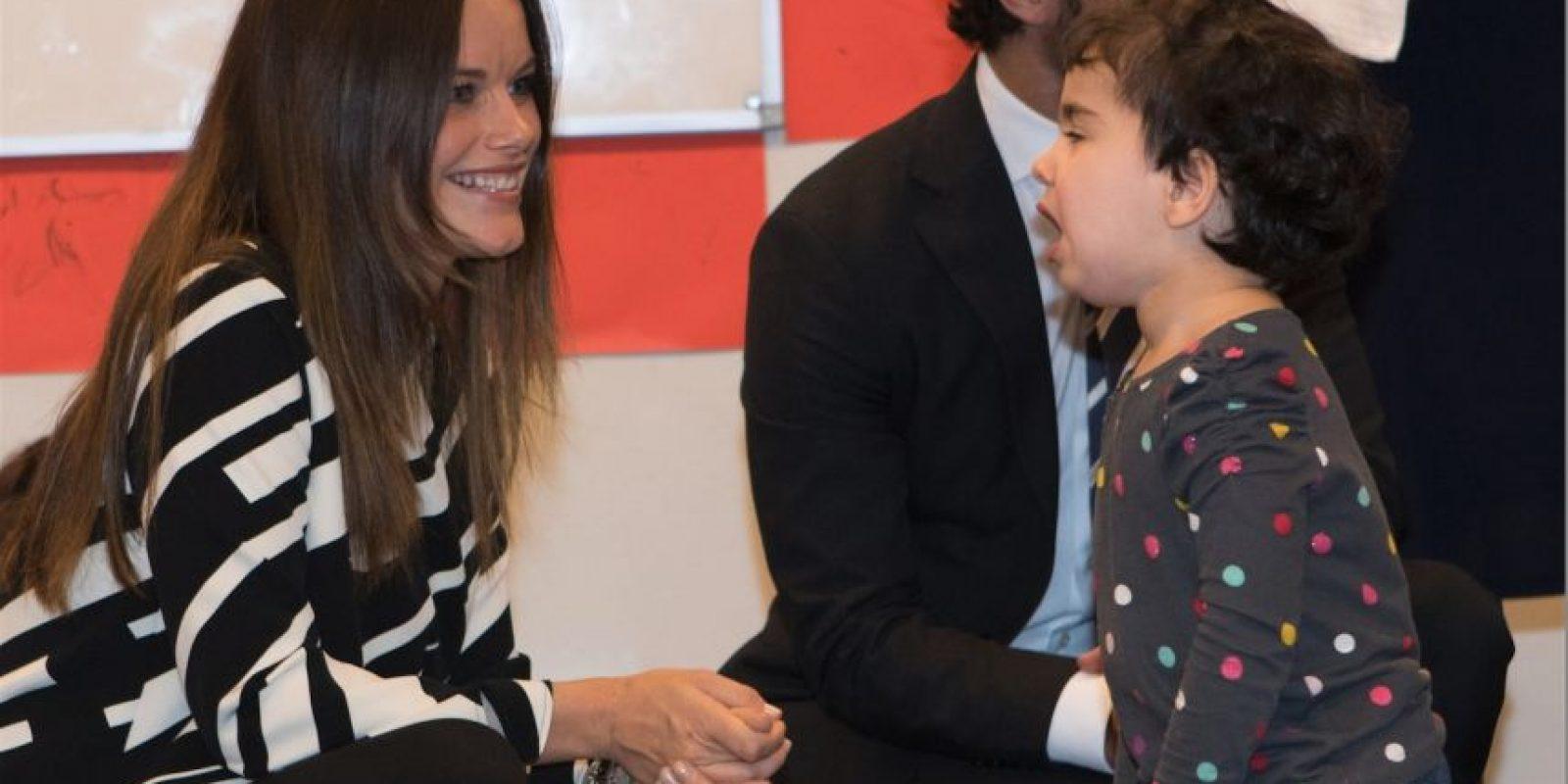 Además de tener un encuentro con niños migrantes Foto:Getty Images