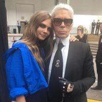 Cara Delevingne y Karl Lagerfeld Foto:Instagram/CaraDelevingne