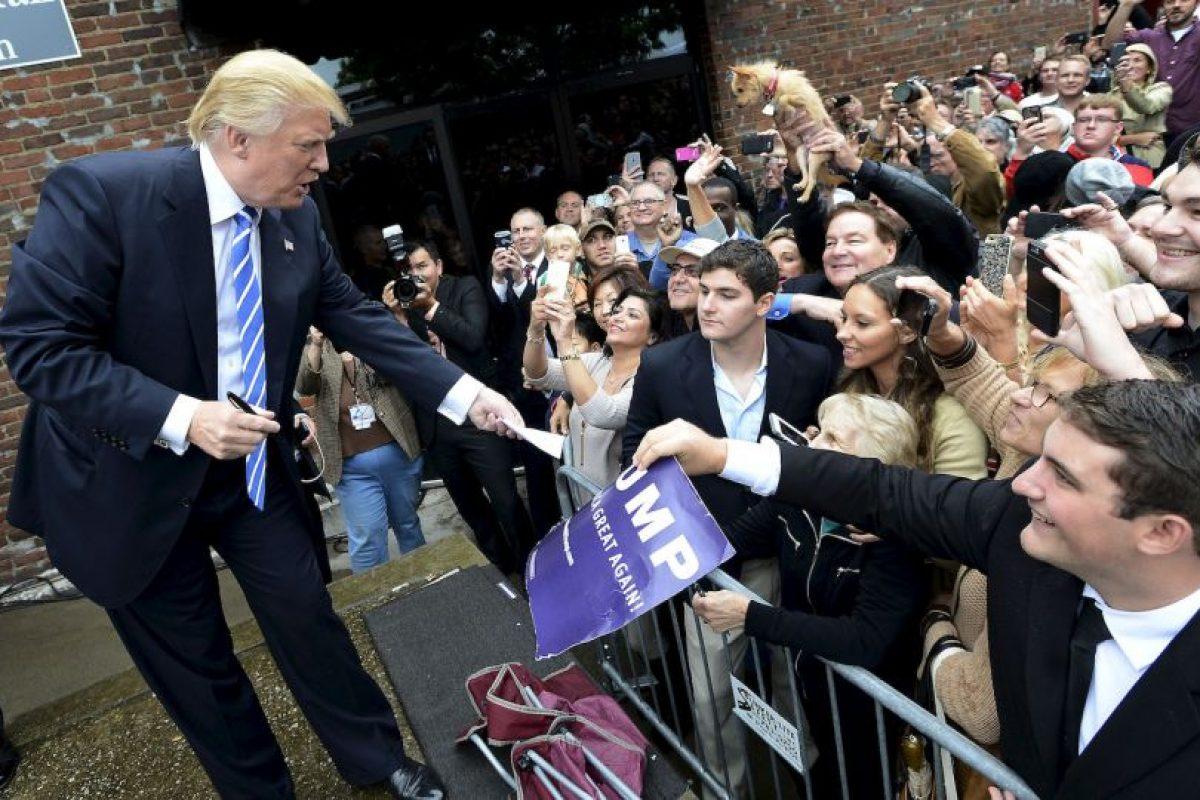 Algunos de los partidarios de Trump intentaron terminar con el conflicto. Foto:AP