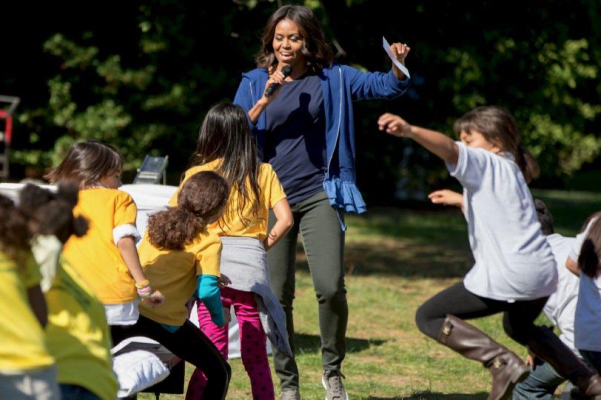 La primera dama dedicó un momento para los juegos. Foto:AP