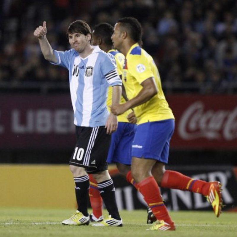 Argentina vs. Ecuador en el Estadio Monumental Antonio Vespuci de Buenos Aires. Foto:Getty Images