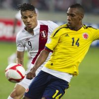 Colombia vs. Perú en el Estadio Metropolitano Roberto Melendez de Barranquilla. Foto: Getty Images