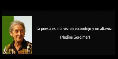 Nadine Gordimer, reconocida en 1991 Foto:Tumblr