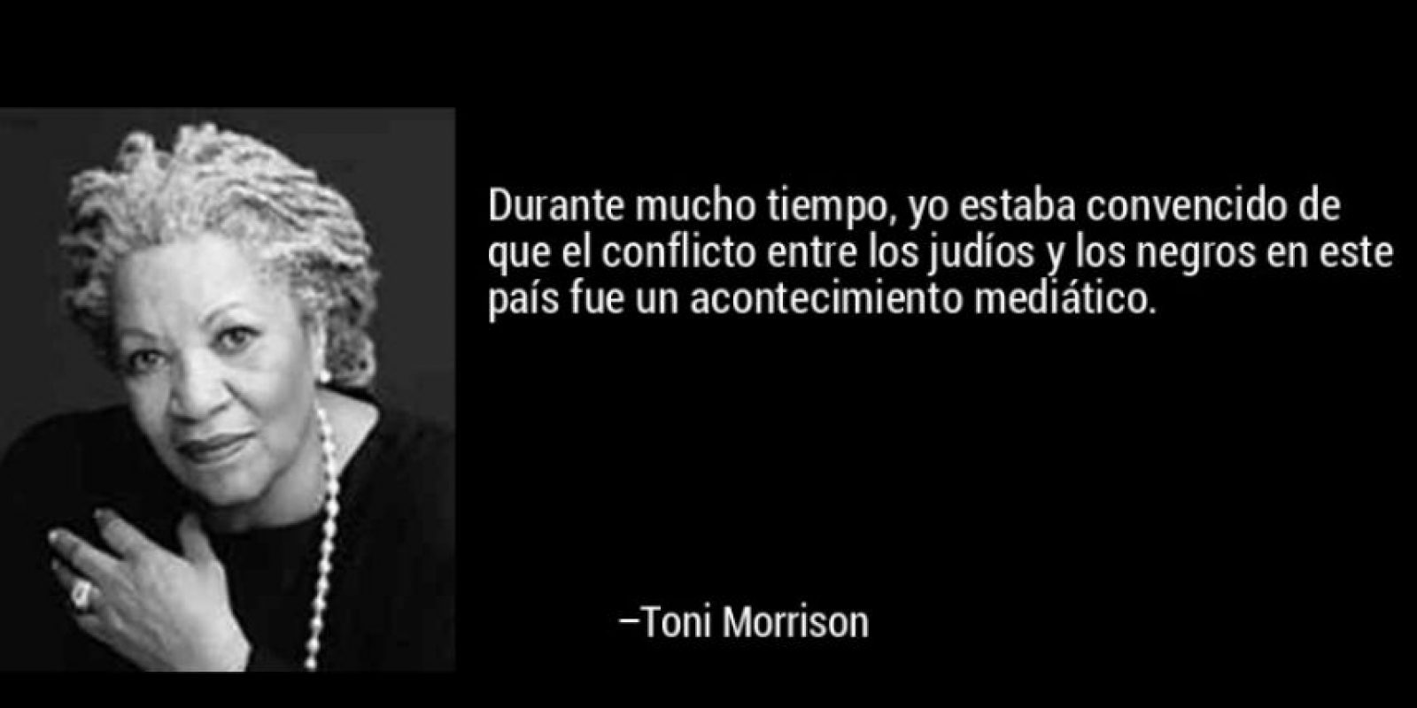 Toni Morrison, galardonada en 1993 Foto:Tumblr