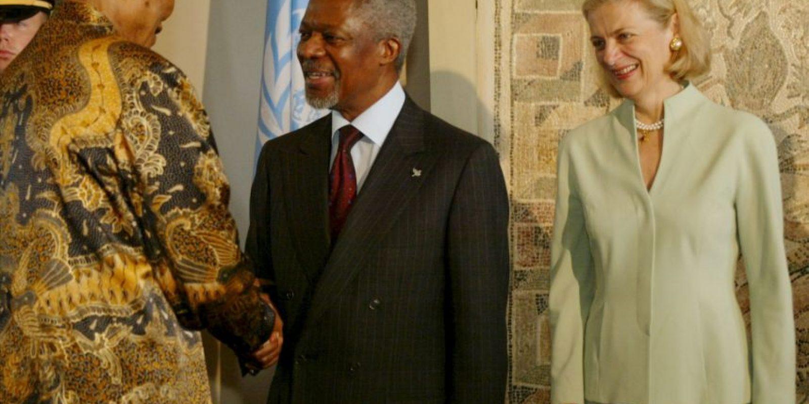 Kofi Annan, fue galardonado, junto a la ONU, con el Premio Nobel de la Paz de 2001. Foto:Getty Images