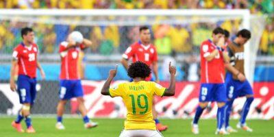 Chile vs. Brasil en el Estadio Nacional Julio Martínez Prádanos de Santiago. Foto:Getty Images