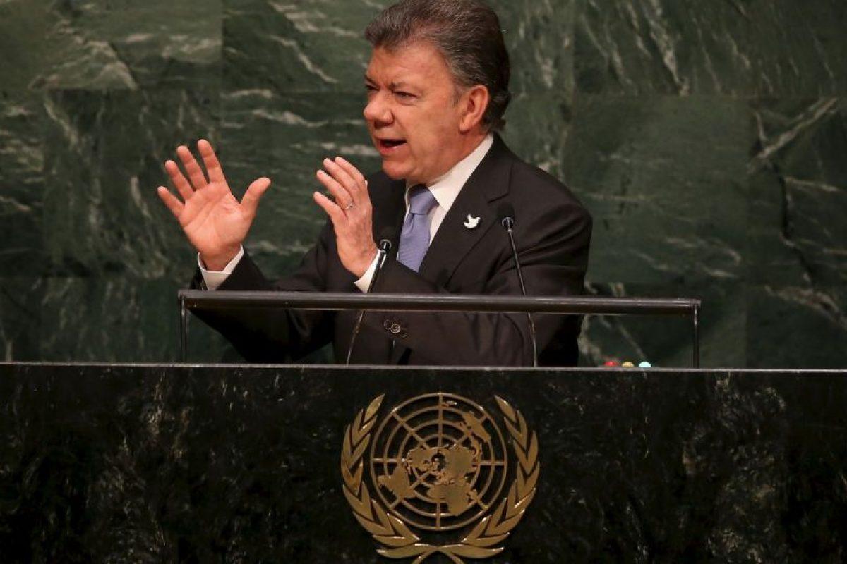 El mandatario colombiano también se encuentra en la lista después de que más de 50 años, se logró empezar un acuerdo de paz para Colombia con las FARC Foto:Getty Images