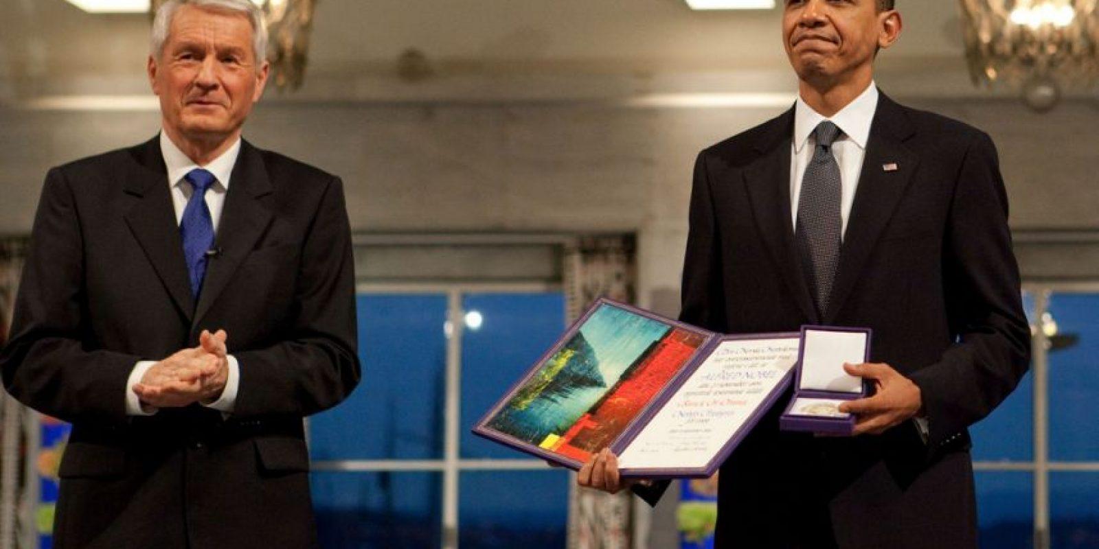 El actual presidente de Estados Unidos, recibió el Nobel de Paz en 2009. Foto:Vía Wiki