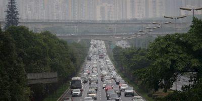 Lo que produjó un embotellamiento de tránsito descomunal Foto:Getty Images
