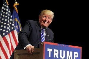 El precandidato estadounidense Donald Trump se encontraba dando un discurso en Las Vegas. Foto:Getty Image