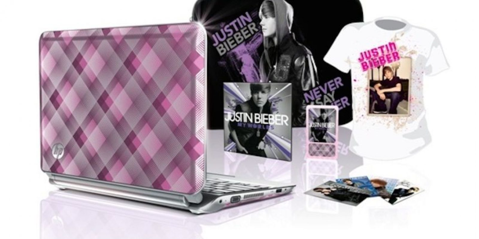 Este es el Fan Kit Edición Especial de Justin Bieber (2011) Foto:HP