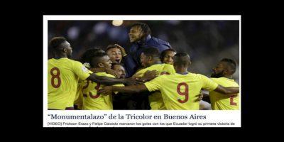 """""""Monumentalazo"""", así tituló """"El Universo"""" de Ecuador Foto:El Universo"""