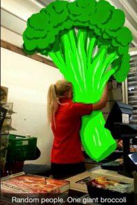 """""""Gente al azar. Un brocoli gigante"""" Foto:Snapchat"""