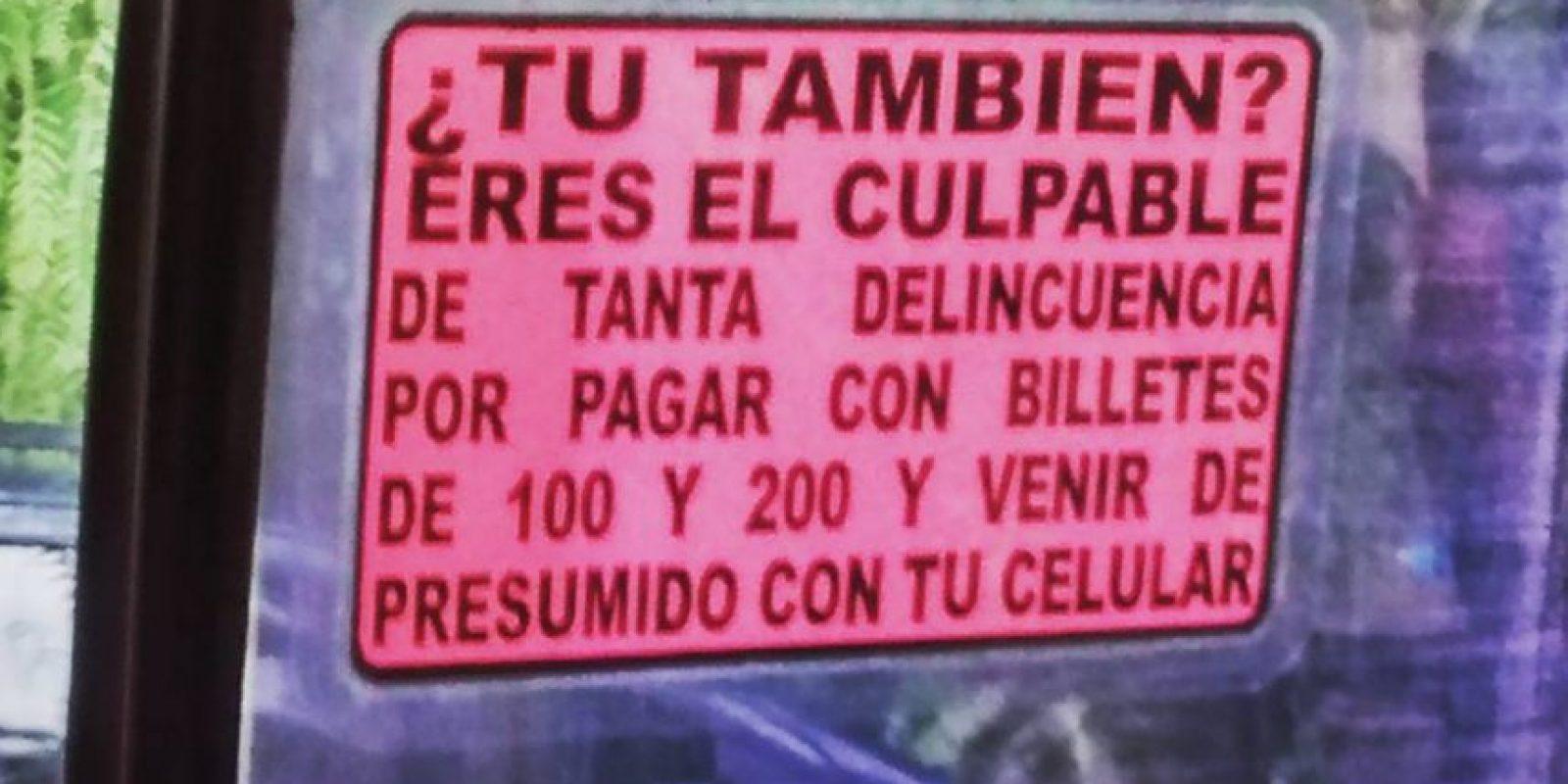 Porque el trabajador que gana el sueldo mínimo es el culpable de que lo roben por darse gusto. Foto:vía SoloenMexico/Instagram