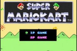"""Super Mario Kart"" para Super Nintendo (1992) Foto:Nintendo"