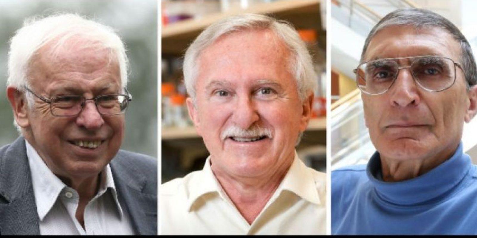 """El Premio Nobel de Química 2015 fue para el sueco Thomas Lindahl, el estadounidense Paul Modrich y el turco-estadounidense Aziz Sancar por su trabajo """"estudios mecanicistas de la reparación del ADN"""". Foto:AFP"""