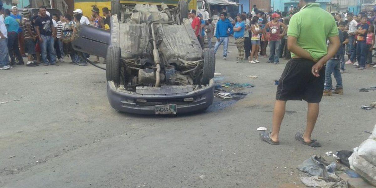 Enfrentamiento entre vecinos y policías cerca del Relleno Sanitario