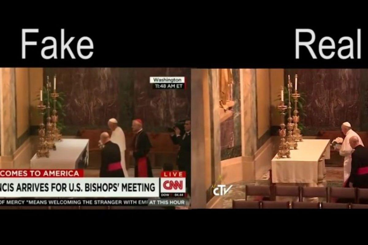 Miren el falso y el verdadero. Foto:Vía Youtube