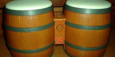 """DK Bongos se utilizaba para tocar el instrumento en el juego """"Donkey Kong Jungle Beat"""". Foto:Nintendo"""