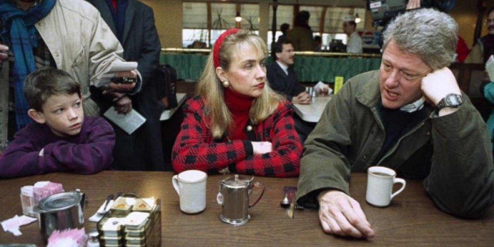 Febrero de 1992. En plena carrera presidencial. Foto:AP