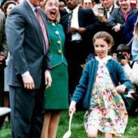 Casería anual de huevos de pascua de la Casa Blanca. Abril de 1993. Foto:Getty Images