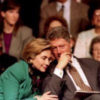 16 de febrero 1994. La pareja antes de un discurso en Edison, Nueva Jersey. Foto:Getty Images