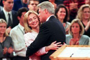 Después del debate presidencial en la Universidad de San Diego, el 16 de octubre de 1996. Foto:Getty Images