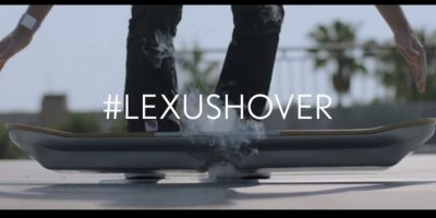 La tabla voladora de Lexus. Foto:Lexus
