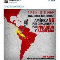También se divulgaron imágenes con el hashtag #NadaQueCelebrar Foto:Twitter.com
