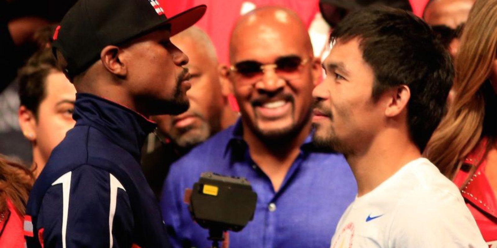 """7) """"Money"""" ganó 148 millones de dólares menos en la pelea contra Andre Berto, que en el combate ante Manny Pacquiao. Foto:Getty Images"""